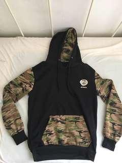 Army pattern hoodie sweatshirt