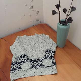 🚚 北歐風格圖騰針織毛衣