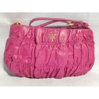 Authentic PRADA Matelasse  Clutch Pouch Bag