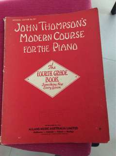 Piano book John Thompson Fourth grade