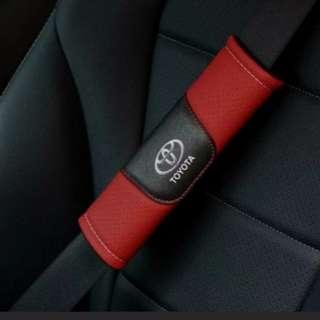 For Toyota: Brand New High Quality Leather Seat Belt Seatbelt Cover Shoulder Pad for Toyota Corolla Altis, Wish, Sienta, CHR, Rav4, Fortuner, Harrier, Prius Hybrid, Prius C Hybrid, Vios, Camry, Previa, Vellfire, Alphard, Hiace Commuter, Hiace Van, Dyna