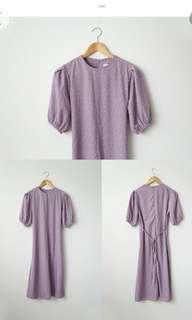 Korean lilac basic dress