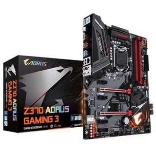 🚚 【前衛電腦】 技嘉 Z370 AORUS Gaming 3 8代 1151 詢問有便宜