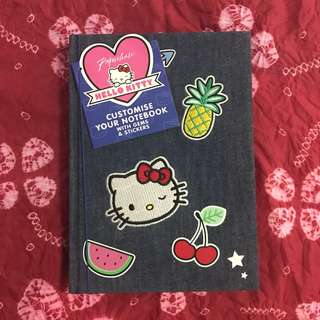 BN Paperchase Hello Kitty A5 Denim Customised Notebook