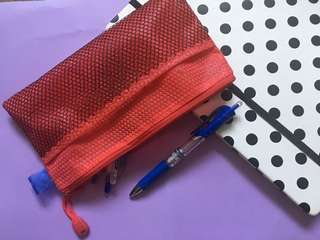 [NEW] RED PENCIL CASE