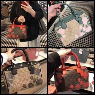 Coach floral doctors bag