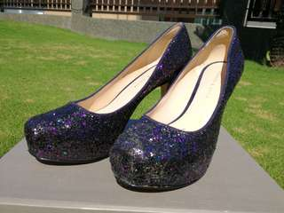 Charles Keith high heels bling glittering shoes