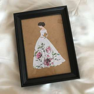 Mother day customise lady portrait