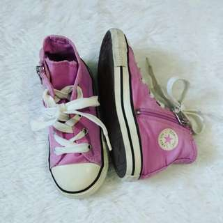 (US9) Auth Converse purple shoes for toddler