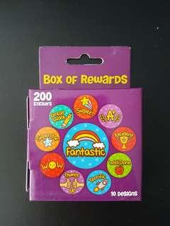 [INSTOCK] BN Purple Box of Rewards Stickers (200 stickers)