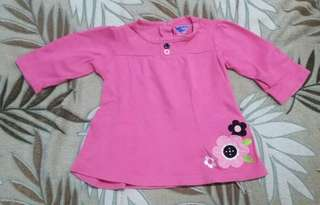 Pre-lobed pink with flowers blouse
