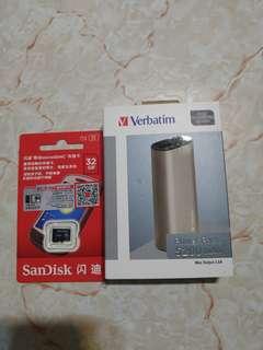 電話孖寶 全新 充電寶 5200mah 32gb sdhc micro sd卡 5200mah 32gb