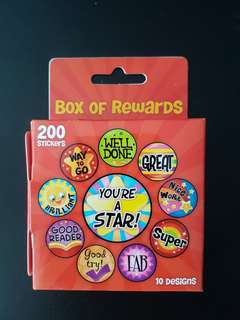 [INSTOCK] BN Red Box of Rewards Stickers (200 stickers)