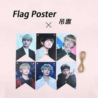 BTS V Hanging Flag