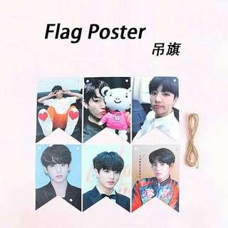 BTS Jungkook Hanging Flag