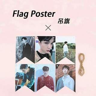 EXO Lay Hanging Flag