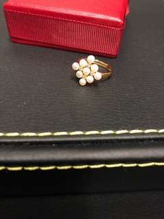 菱形淡水珍珠戒指