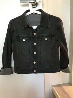 Unique black denim jacket