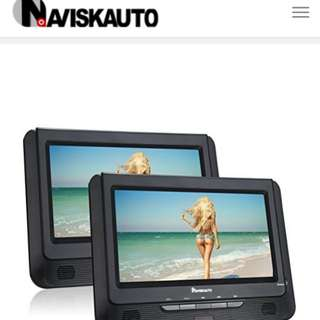9 inch headrest monitor with dvd player