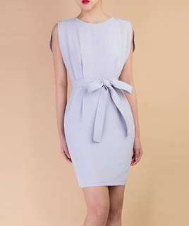 Grey color office dress