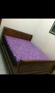 Bed/Ranjang/Dipan Jati tua, ukuran queen 160x200cm