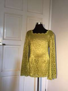 Gold peplum blouse - 315