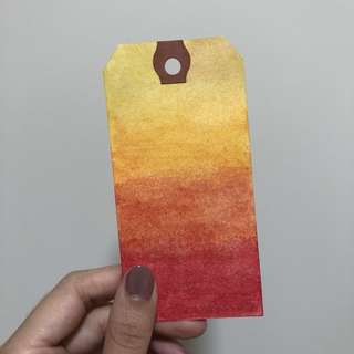Watercoloured Bookmarks