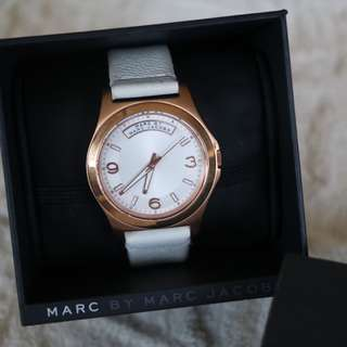 Marc Jacobs White Leather Band Watch