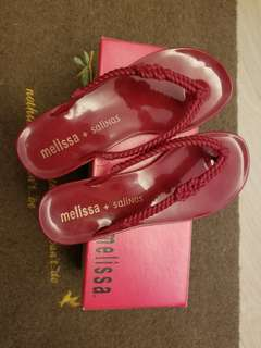 Authentic  Melissa sandals 棗红色