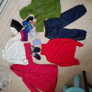 Assorted kids winter wear for 2-3yo