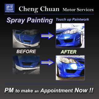 Spray Painting / Touch-up of paintwork (Ramadan special 10% off spray painting)