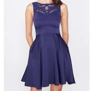 (M) Intoxiquette Dress in Indigo