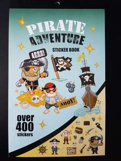 [INSTOCK] BN Pirate Adventure Sticker Book (over 400 stickers)