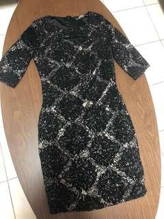 Miss Selfridge Lace Black Dress