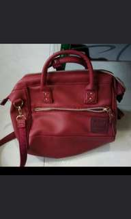 Anello red sling bag