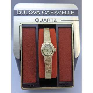 1980年 Caravelle By Bulova ~ QUARTZ 女裝石英錶 w/box