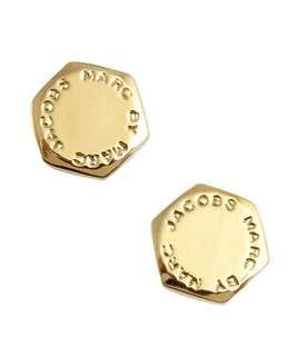 💚現貨💚 Marc by Marc Jacobs earrings Studs Bolt bolt Stud Earrings (Silver) MARC BY MARC JACOBS genuine USA imported Stud Womens 六角形 金色銀色 耳環