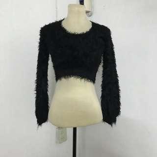 Fur Cropped Top