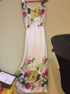 Floral Long Evening Dress