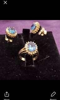 Blue Sapphire in 14k Gold