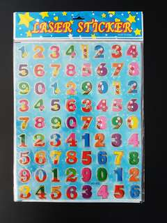 BN Numbers Stickers