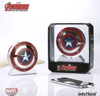 全新 Marvel Avengers Captain America 美國隊長 Bluetooth Speaker Powerbank