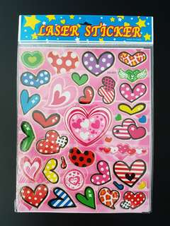 BN Hearts Stickers