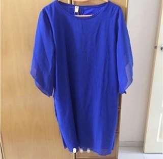 Plus Size Blue Dress