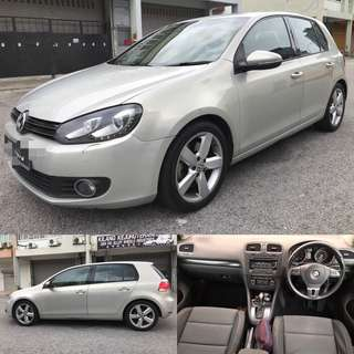 SAMBUNG BAYAR / CONTINUE LOAN  VW GOLF TSI 1.4CC TURBO TAHUN 2014/2016