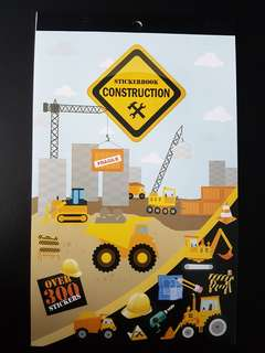 [INSTOCK] BN Construction Sticker Book (over 300 stickers)