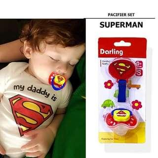 Superhero pacifier sef