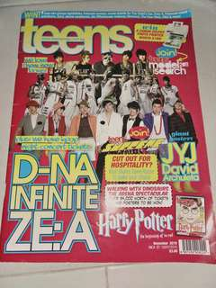 Teen magazine with poster inside