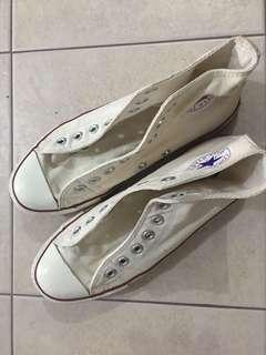 Converse Beige midcut rubber shoes