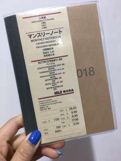 Muji 無印schedule book